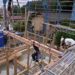 「束間の家」建て方1