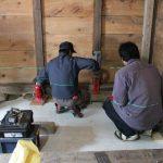 「松本の土蔵」揚舞工事