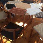 「北軽井沢の別荘」ダイニングテーブル