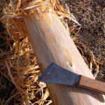 丸太を磨く。-間伐材を利用した簡易磨き丸太-
