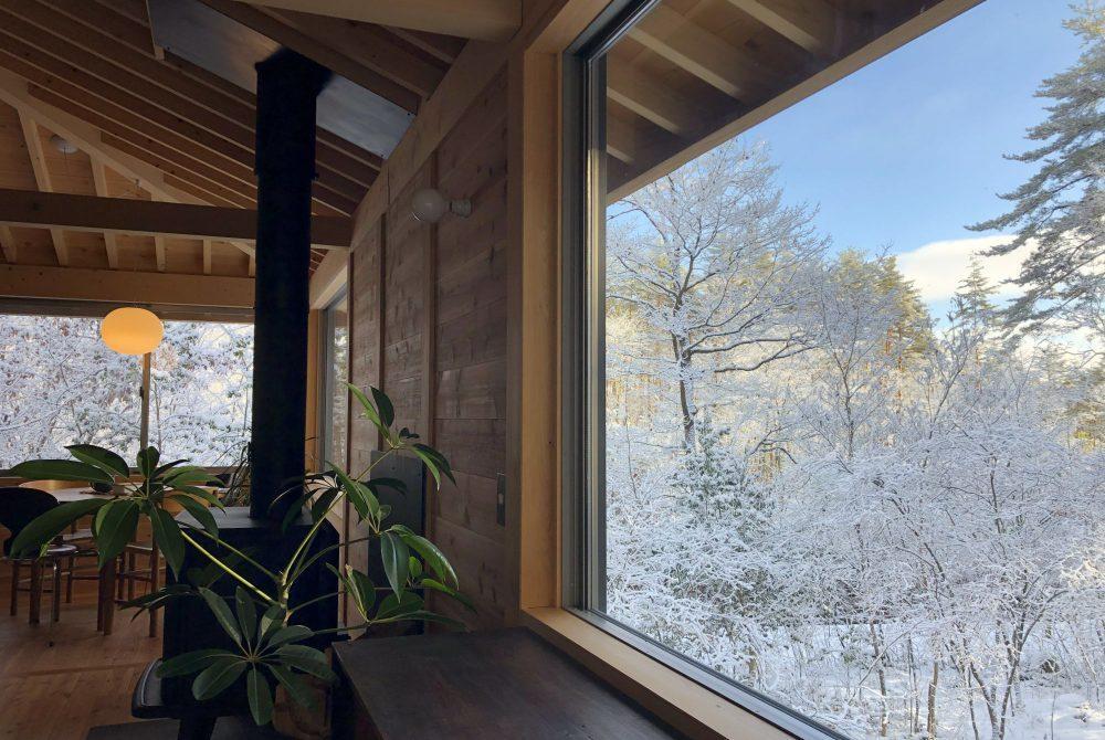 有明の家 雪景色
